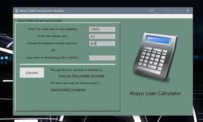 Brute Force Logic Abayo Loan Calculator