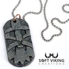 items similar to viking totem dog pendant necklace handmade one of a kind on etsy