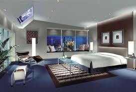 Artistic Light Blue Bedroom Interior