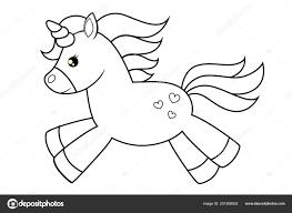 Vettore Unicorno Colorato Da Stampare Unicorno Sveglio Del