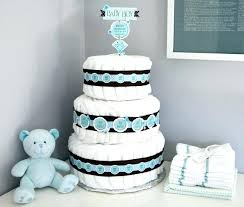 baby shower decoration diy diaper cake decoration via baby shower diy decorations boy