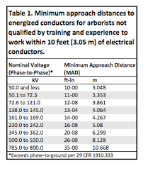 Electrical Clearance Chart Clearing Up Incidental Line Clearance Landscape Business