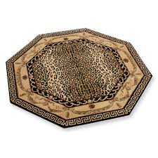 animal print area rug unique area rugs amazing octagon cheetah print rugs in modern style for
