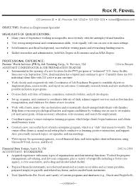 tax specialist resume resume example for an employment specialist susan ireland resumes