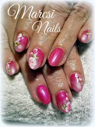 Pink Nail Art Design Fashion Black And Pink Nail Art Beautiful Pink Nail With