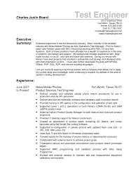Qtp Test Engineer Sample Resume 10 Useful Materials For Regulatory