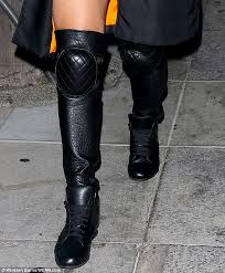 chanel knee high boots. scroll below to see more pics of the boots and video. chanel knee high