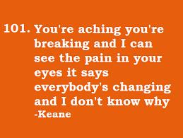 Keane  Everybodyu0027s changing