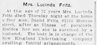 Obituary for Lucinda Fritz (Aged 72) - Newspapers.com