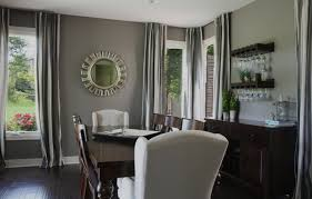 small round mirrors for dining room decorations with decorative hanging wine glass rack and gray wall paint color ideas