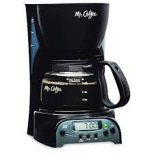 It comes with a glass carafe, nonstick hot plate and a large water window. Mr Coffee 4 Cup Programmable Coffee Maker Black Drx5 Np Target