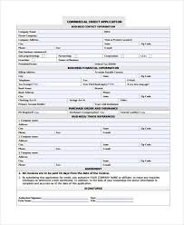 Business Credit Application Form Magdalene Project Org