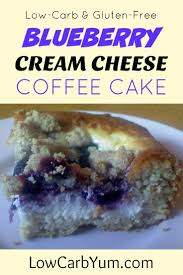 low carb blueberry cream cheese coffee cake recipe cover