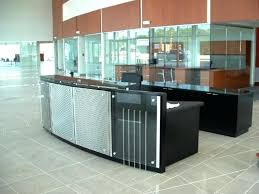 reception desk glass reception desk with metal and glass panels and granite transaction counter includes credenza