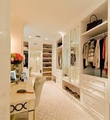 makeup vanity in closet