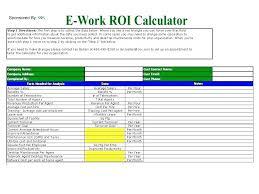 Excel Roi Template Roi Model Excel Template Digitalhustle Co