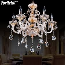 luxury zinc alloy european candle crystal chandelier living room dining room bedroom villa chandelier modern candle luxury crystal lamp d9283 3 head