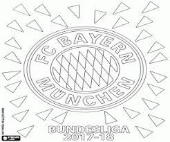 Ausmalbilder Fc Bayern München Bundesliga 2017 2018 Zum Ausdrucken