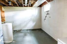 painting cinder block walls in a