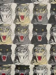 gucci tiger face print wallpaper