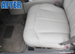 1999 2002 chevy silverado lt ls z71 leather seat cover driver bottom gray