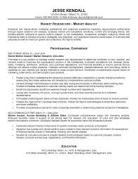 Market Researcher With Analytical Professional With Marketing Resume