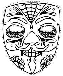 Fascinating Printable Symmetry Coloring Pages Free Mask For Kids 18567