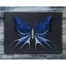 String art butterfly with acrylic painting by TheStringArtStudio ...