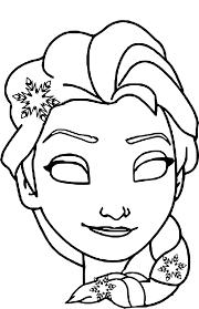 Coloriage Masque Elsa Imprimer Sur Coloriages Info