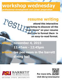 Resume Writing Workshop Near Me Oneswordnet