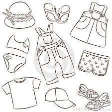 Top array summer children39s clothing dress and hat stock photo image within rh clip4art