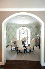 custom print wallpaper best ideas on design archway leading to dining room  with and crystal chandelier