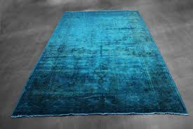 creative teal overdyed rug rugs vintage and new over dyed