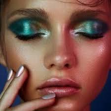 seventies disco makeup purple green google search mermaid eye makeup mermaid skin mermaid