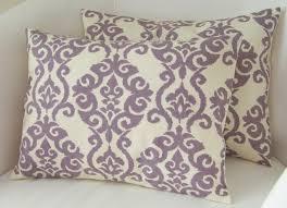 lilac purple pillow covers set of two lumbar pillows