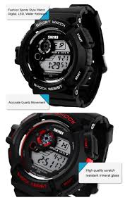 men fashion led digital alarm date rubber army watch waterproof style men s cool sport led digital wrist watch fashion