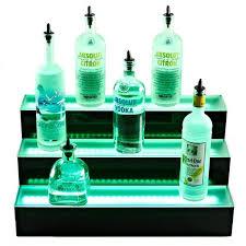 heat resistant glass shelf lovely 3 tier led lighted liquor bottle display shelf acrylic base