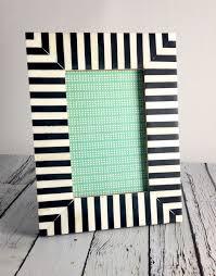 large black white striped frame