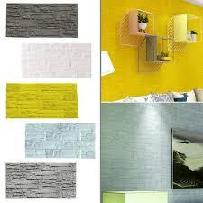 3d brick pe foam embossed wallpaper
