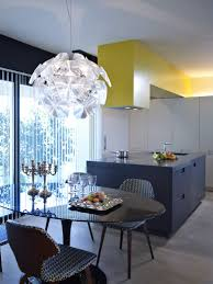 Yellow Kitchen Decorating Spring Kitchen Decor Ideas With White Floor And Rustic Wooden