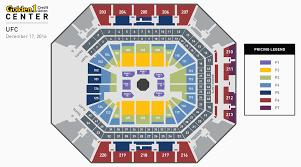 Sacramento Kings Stadium Seating Chart Ufc Fight Night Golden1center