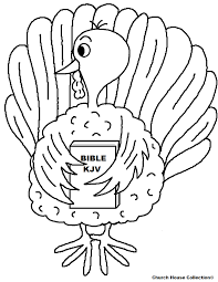 Small Picture Turkey Holding Bible Coloring Page