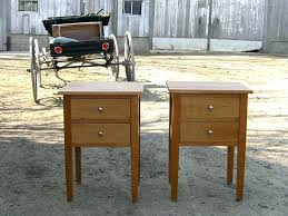 sidetables shaker bedside table style 2 drawer side in natural cherry ta