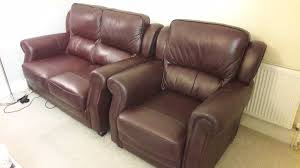 harveys brown leather sofa two seater and one seater in excellent condition