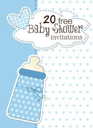 printable baby shower invites com