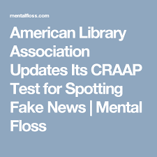 Craap Test American Library Association Updates Its Craap Test For