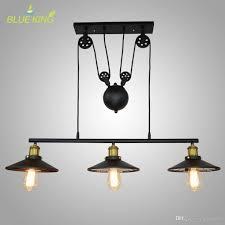 pendant lamp lights mid century ceiling contemporary lighting modern gold light black kitchen wood pulley caged hanging three fixture surfocostarica com