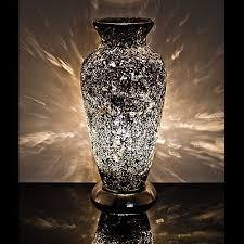 black mosaic vase lamp