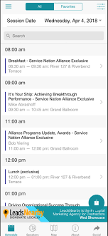 the spring 2018 international roundtable app has a schedule featureidentify the sessions you want to attend and swipe to save them to your own conference