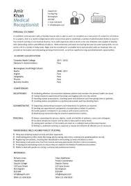 Medical Receptionist Resume Template Simple Medical Receptionist Resume With No Experience Httpwww